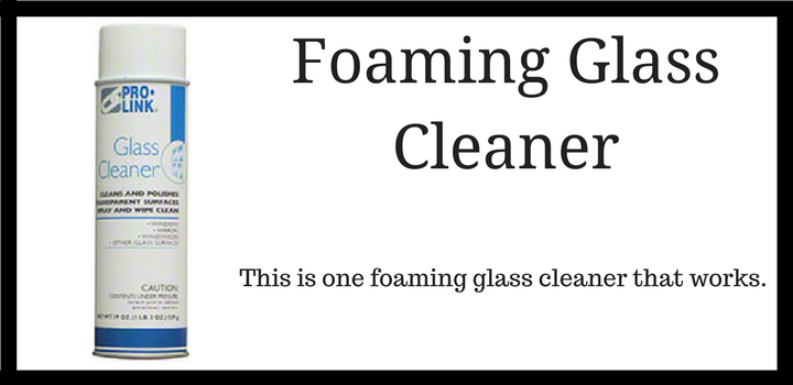 A Foaming Glass Cleaner that Cuts Through the Toughest Grime